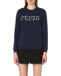 Kenzo Branded Jersey Sweatshirt - For Women - Lyst