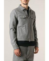 Ami Alexandre Mattiussi Grey Wool Jacket - Lyst