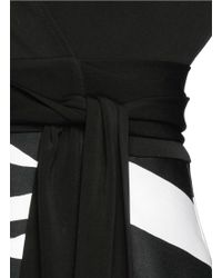Diane von Furstenberg | 'amelianna' Zebra Print Silk Mikado Combo Wrap Dress | Lyst