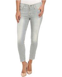 True Religion Serena Super Skinny Crop in Aye Blue Stripe - Lyst