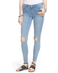 Free People | Destroyed Skinny Jeans | Lyst