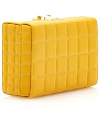Mark Cross Quilted Yellow Grace Clutch - Lyst