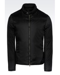Armani Full Zip Blouson in Technical Fabric - Lyst