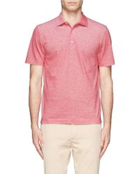 Canali Cotton Polo Shirt - Lyst