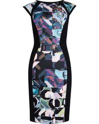 Ted Baker Sibonny Geometric Print Dress - Lyst