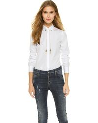 DSquared² Long Sleeve Button Down - White white - Lyst