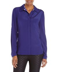 Diane von Furstenberg Purple Lorelei Silk Blouse - Lyst