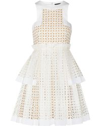 Alexander McQueen Laser-Cut Cotton Dress - Lyst