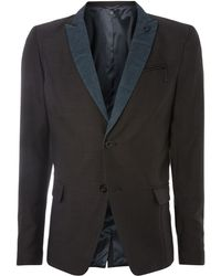 Diesel Denim Collar Blazer - Lyst