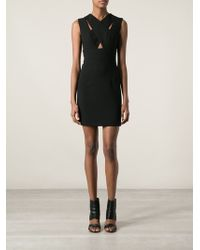 Emanuel Ungaro Overlapping Neckline Dress - Lyst