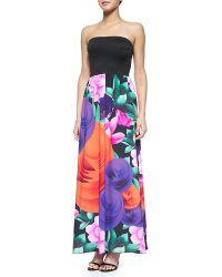 Clover Canyon Lotus Garden Strapless Maxi Dress - Lyst