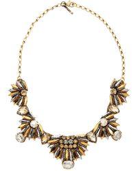 Deepa Gurnani Pharaoh Crystal Necklace Gold - Lyst