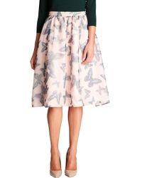 Cece by Cynthia Steffe - 'floating Butterflies' A-line Skirt - Lyst