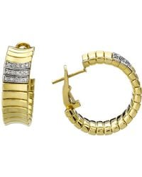 Chimento | 18k Yellow & White Gold Supreme Collection Ridge Arc Hoop Earrings With Diamonds | Lyst
