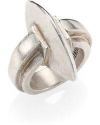 Ann Demeulemeester Sterling Silver Omega Ring - Lyst