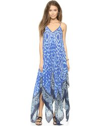 747f1d3d9e51 Theodora   Callum - Anguilla Scarf Cover Up Dress - Blue Multi - Lyst