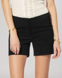 Maje Shorts - Ideal Leather - Lyst