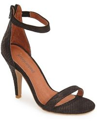 Jeffrey Campbell 'Burke' Snake Embossed Leather Ankle Strap Sandal - Lyst