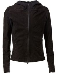 Lost & Found - Hooded Leather Jacket - Lyst