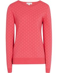 Reiss Aggie Textured Knit Jumper - Lyst