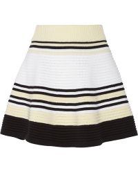 Opening Ceremony Striped Ribbed Cotton Mini Skirt - Lyst