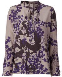 Lanvin Floral Print Shirt - Lyst