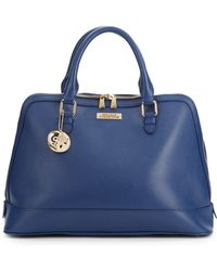 Versace Pebbled Leather Bowler - Lyst