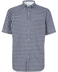 Lacoste Gigham Short Sleeved Shirt - Lyst