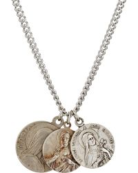 Miracle Icons - Charm Trio On Curb Chain - Lyst