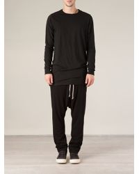 DRKSHDW by Rick Owens Oversized Long Sleeve T-shirt - Lyst