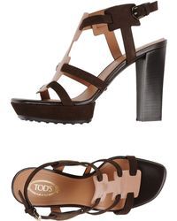 Tod's Sandals pink - Lyst