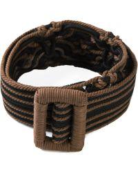 Yves Saint Laurent Vintage Braided Belt - Lyst