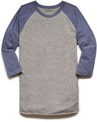 21men Colorblock Heathered Baseball Tee - Lyst