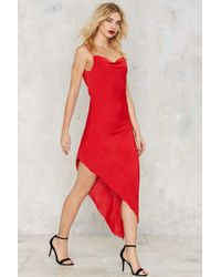 Nasty Gal | Slink About It Cowl Dress | Lyst