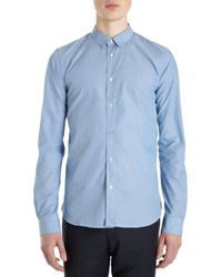 Paul Smith Blue Solid Shirt - Lyst