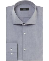 Hugo Boss Jaron Slim Fit Luxury Solid Shirt - Lyst