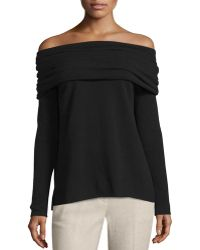 Vince   High Twist Off-the-shoulder Cashmere Sweater   Lyst