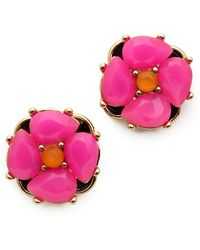 Kate Spade Izu Petal Stud Earrings Pink Multi - Lyst