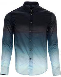John Varvatos | Slim Fit Dip Dye Sport Shirt | Lyst
