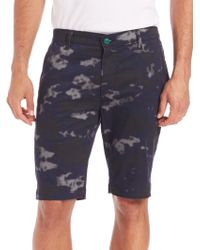 AG Green Label - Canyon Camouflage-print Shorts - Lyst