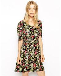 Ganni Floral Tulip Dress - Lyst