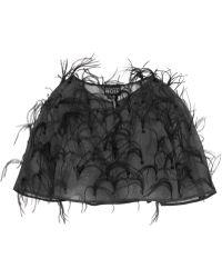 Noir Sachin & Babi - Andrea Cropped Embellished Silk-organza Jacket - Lyst