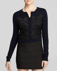 Diane Von Furstenberg Cardigan  Lace Front - Lyst