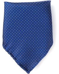 Mr Start Blue Dot Pocket Square - Lyst