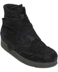 Alexandre Plokhov Cowhide Crust Leather High Top Sneakers - Lyst