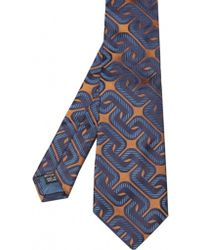 Duchamp Retro Chain Print Silk Tie - Lyst