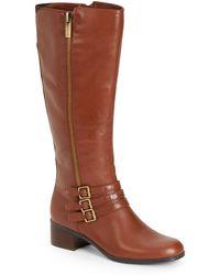 Bandolino Carson Tripple-strap Leather Boots - Lyst
