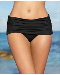 DKNY Ruched Skirted Swim Bottom - Lyst