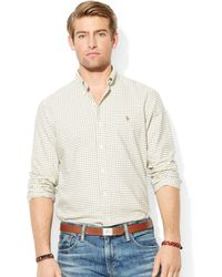 Ralph Lauren Polo Classicfit Checked Oxford Shirt - Lyst