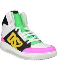 DSquared² Ds2 Leather High-Top Sneakers - Lyst